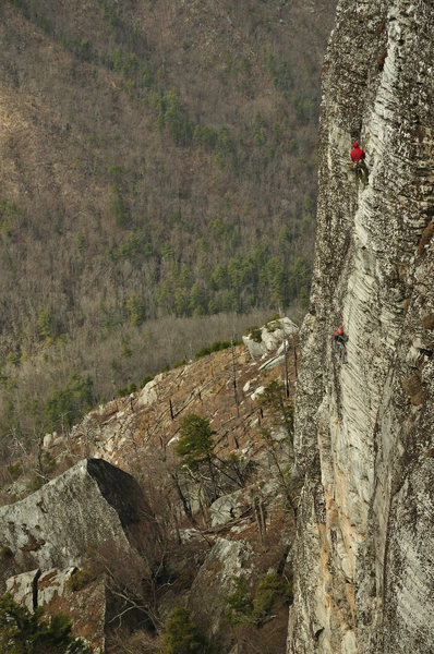 Rock Climbing Photo: Party finishing up pitch 2.