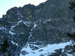 Rock Climbing Photo: Hallett Chimney.