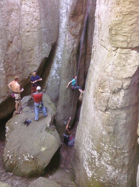 Rock Climbing Photo: chimney