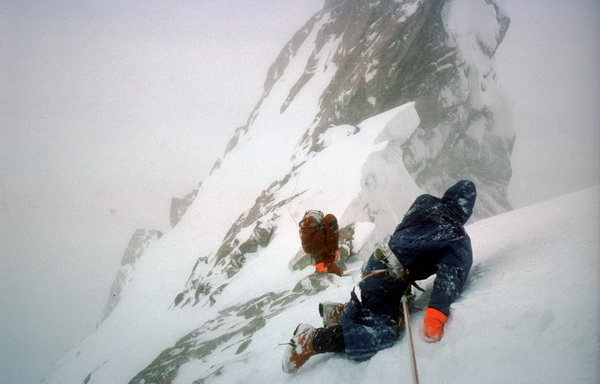 The epic of all retreats.<br> <br> From: http://dougscottmountaineering.co.uk/lectures/ogre.html.