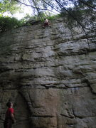 Rock Climbing Photo: 5.9, Sommersville Lake, New River Gorge, WV