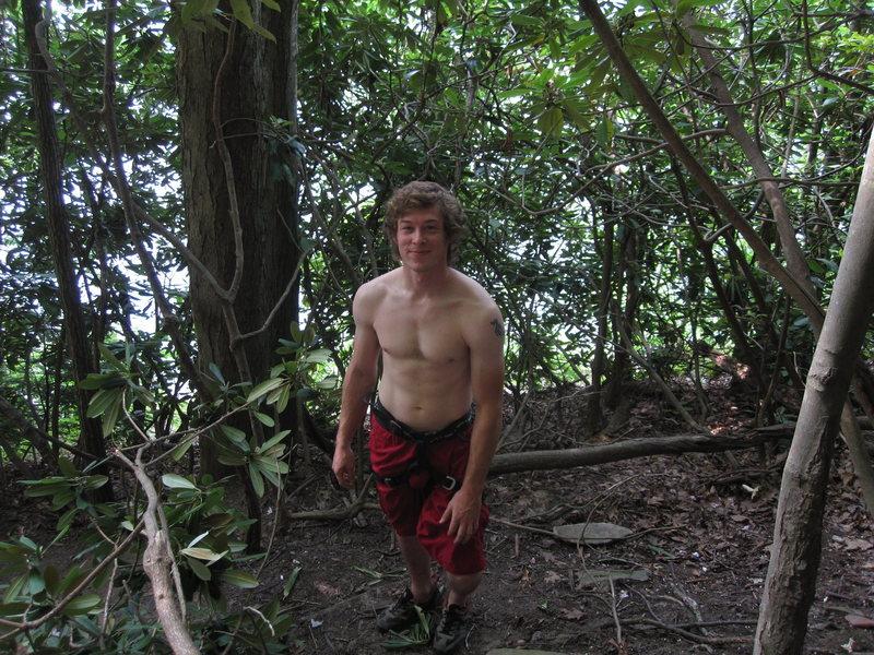 Rock Climbing Photo: Sean enjoying the beautiful Sommersville Lake in W...