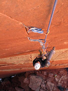 Rock Climbing Photo: Cleaning pitch one.  You can get a good look at th...