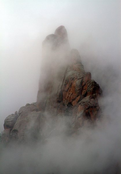 Foggy day on Cynical Pinnacle.