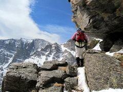 Rock Climbing Photo: Exiting Martha  Mt. Lady Washington, RMNP, CO 6/20...