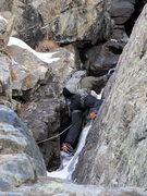 Rock Climbing Photo: Chimney  Ten Mile Canyon, CO 12/27/12