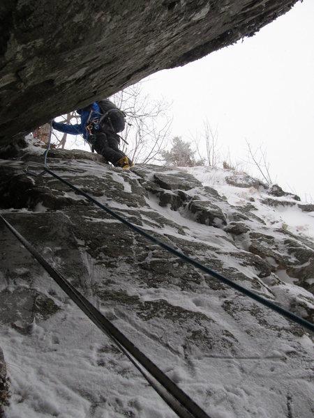 Hitchcock Gully<br> <br> Mt. Willard, NH<br> 02/2012