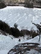 Rock Climbing Photo: Chouinard's Gully  Chapel Pond, Adirondacks, NY 02...