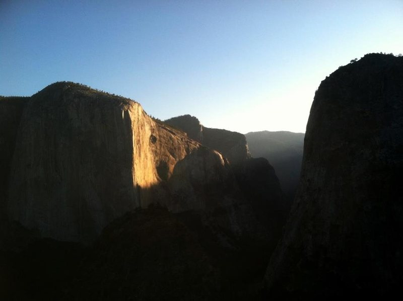 Sunrise on El Capitan.