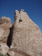 """Rock Climbing Photo: Karen climbing """"mama's boy goes home"""""""