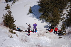 "Rock Climbing Photo: ""Belay Camp"" 3-10-2012. Soaking up the w..."