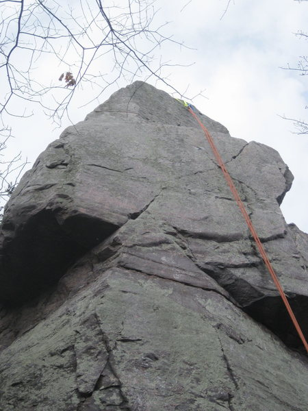 View of the top crux.