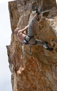 """Rock Climbing Photo: Cool heel-hook coming out of the closet on """"B..."""