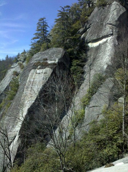 Rock Climbing Photo: Most of the climbing takes place just left of the ...