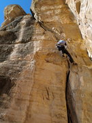 Rock Climbing Photo: Dan takes a victory TR lap after onsighting this g...