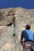 Rock Climbing Photo: Dingleberry Crack - top section - head to the righ...