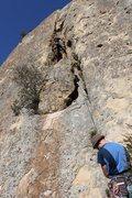Rock Climbing Photo: Dingleberry Crack - Cool Chimney Section - Nice se...