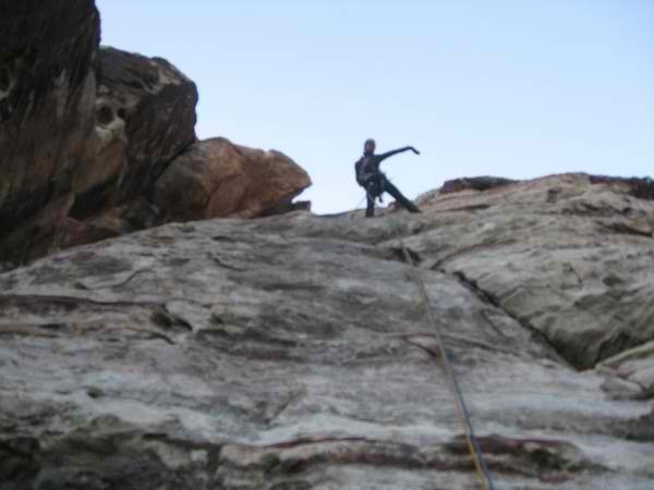 Rock Climbing Photo: 1st time following trad