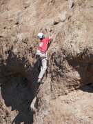 "Rock Climbing Photo: Leader moving through the crux of ""Aenea.&quo..."