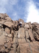 Rock Climbing Photo: George Newman sending on the upper crack.