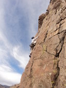 Rock Climbing Photo: Mark Hudson fires up the lower section.