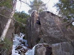Rock Climbing Photo: Pic from the first ascent. Short but pumpy and pow...
