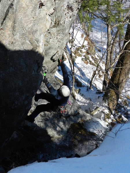 Rock Climbing Photo: Jay working his mixed project... now Wild Boys!