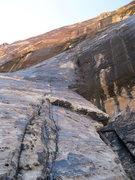 Rock Climbing Photo: Josh on the 1st pitch of Black Widow.