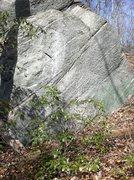 Rock Climbing Photo: Moon Rock - Right side (V hard)