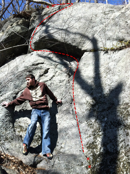Rock Climbing Photo: Peanut