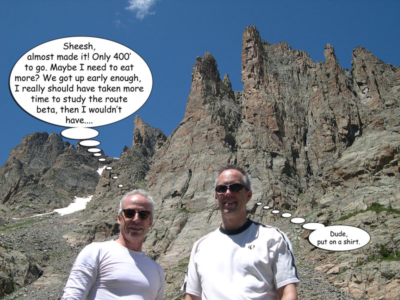 Rock Climbing Photo: Pondering failure