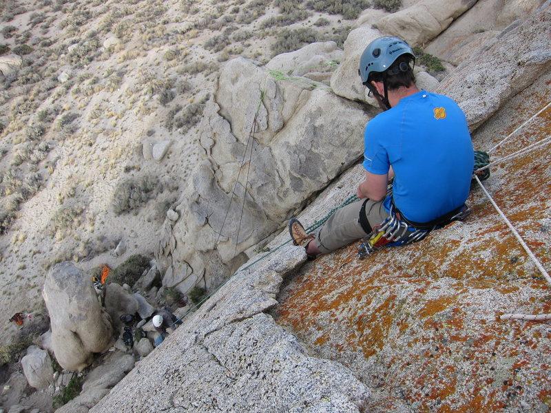 Rock Climbing Photo: Joe belaying Richard after the first ascent of Gra...