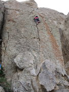 Rock Climbing Photo: Thuy halfway up Grape Nuts.
