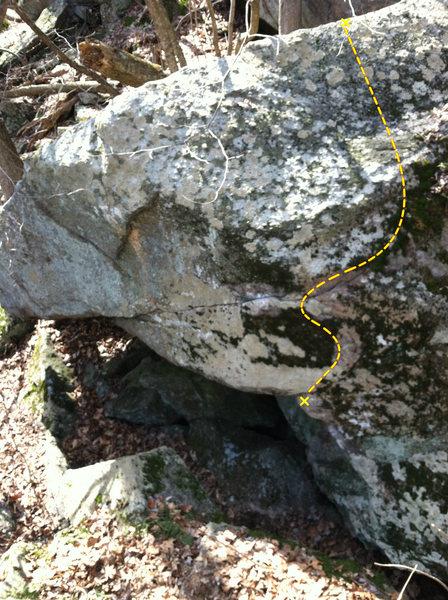 Rock Climbing Photo: Trajectory