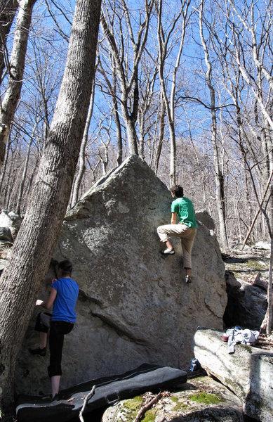 "Rock Climbing Photo: Aaron James Parlier on ""Pyramid Scheme"""