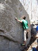 "Rock Climbing Photo: Aaron James Parlier on the start to ""Pyramid ..."