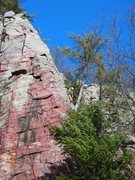Rock Climbing Photo: A different angle of climber Eric leading Peter's ...