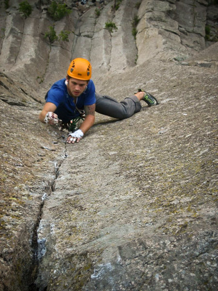 Rock Climbing Photo: Broken Tree, Devils Tower WY. September 11'