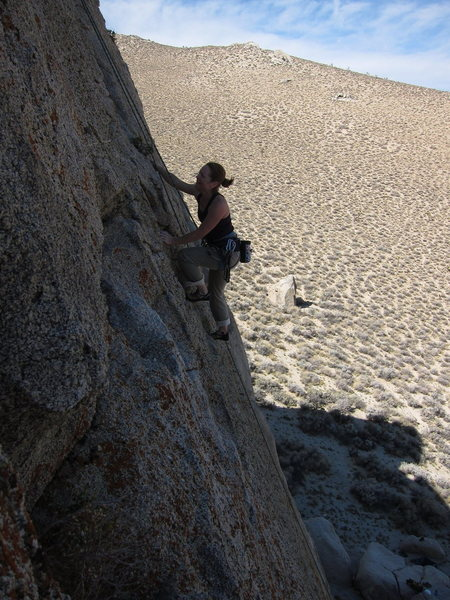 Climbing Grape Nuts at the Green Eggs and Ham Crag