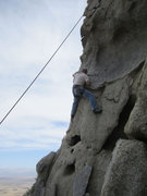 "Rock Climbing Photo: Chris Diersen, pulling into ""the dish"" f..."