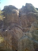 Rock Climbing Photo: Upper Bolt Route