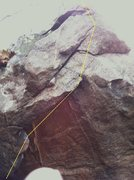 Rock Climbing Photo: Work from bottom left to right and pull over to to...