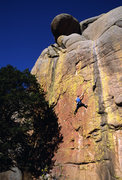 Rock Climbing Photo: Jimmy Ray Forester climibng on Rap Bolters from He...
