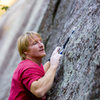 Jimmy Ray Forester climbing on the backside<br> <br> Photo: Ryan Ray