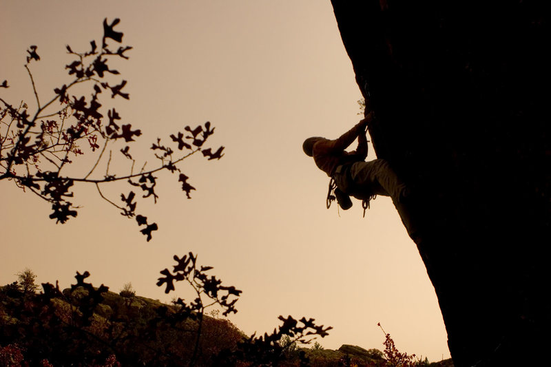 Russell Hooper climbing in the Meadows.<br> <br> Photo: Ryan Ray