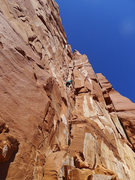 Rock Climbing Photo: Gary leading P2