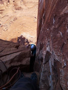 Rock Climbing Photo: last of the squeeze on P3