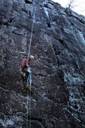 Rock Climbing Photo: Raping off of The Sport Route- Silver Mountain