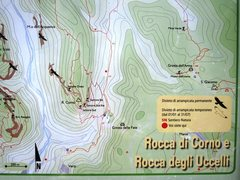 Rock Climbing Photo: Map from the info board at the parking lot for Roc...