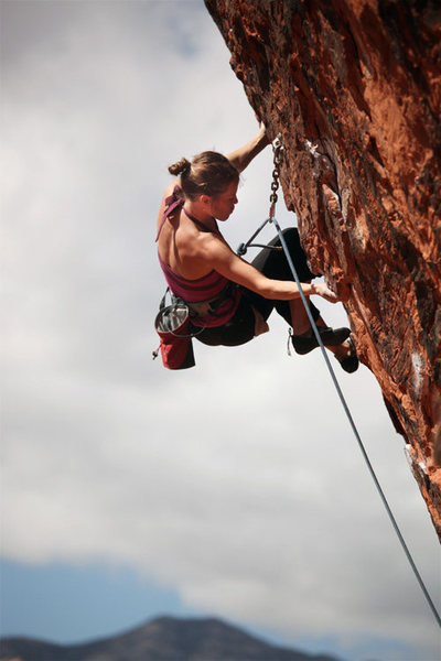 "Carolina Fritz-Kelly of Argentina on ""The Gift""@SEMICOLON@ Gallery, Red Rock Canyon, NV."